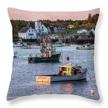 Sundown At Cutler, Maine Throw Pillow