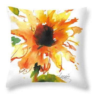 Sunflower Too - A Study Throw Pillow