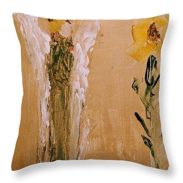 Sunflower Angel Throw Pillow