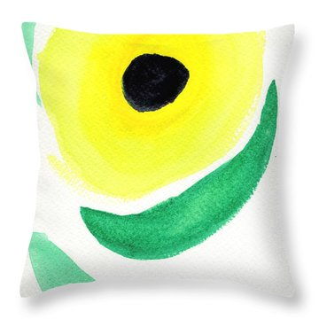 Throw Pillow featuring the painting Sunflower by Bee-Bee Deigner