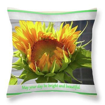 Sunflower Birthday Throw Pillow