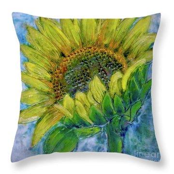 Sunflower Happiness Throw Pillow