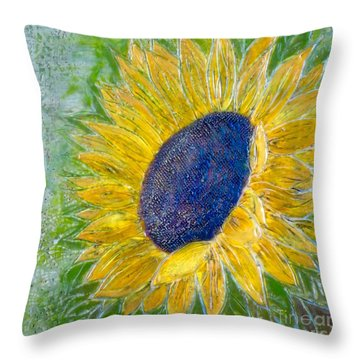 Sunflower Praises Throw Pillow