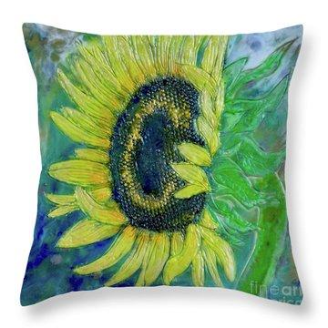 Sunflower Smiles Throw Pillow