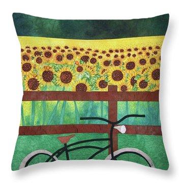 Sunflowers At Whitehall Farm Throw Pillow