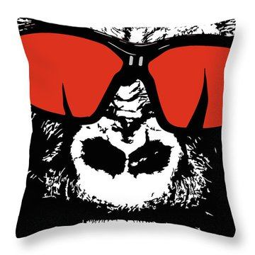 Sunglasses Gorilla Throw Pillow
