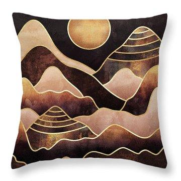 Sunkissed Mountains Throw Pillow