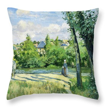 Sunlight On The Road, Pontoise - Digital Remastered Edition Throw Pillow