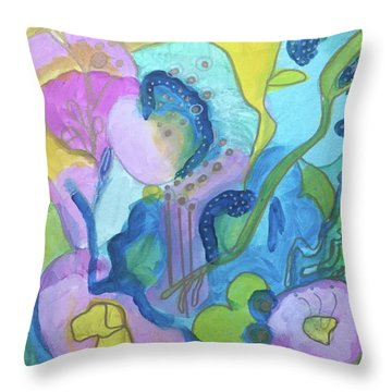 Sunny Day Abstract Throw Pillow