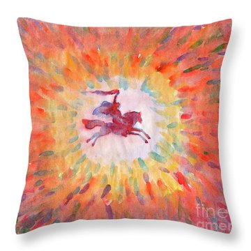 Sunny Rider Throw Pillow