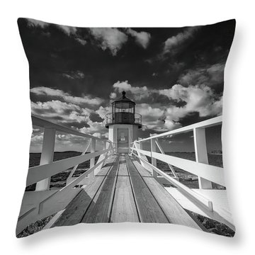 Throw Pillow featuring the photograph Sunny Skies At Marshall Point In Black And White by Rick Berk