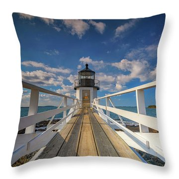 Throw Pillow featuring the photograph Sunny Skies At Marshall Point by Rick Berk