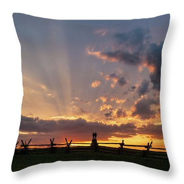 Sunrays At Sunset Throw Pillow