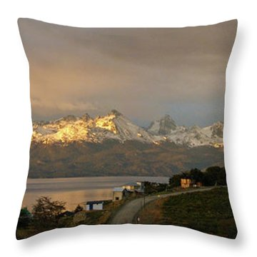 Throw Pillow featuring the photograph Sunrise Across Beagle Channel, Patagonia by Mark Duehmig