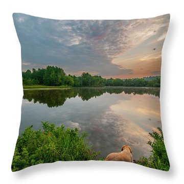 Sunrise At Ross Pond Throw Pillow