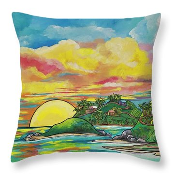 Sunrise At The Islands Throw Pillow