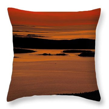 Sunrise Cadillac Mountain Throw Pillow