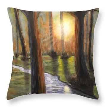Sunrise Creek II Throw Pillow