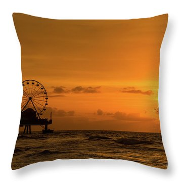 Throw Pillow featuring the photograph Sunrise by Dheeraj Mutha