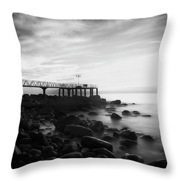 Sunrise In Black And White Throw Pillow