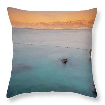 Throw Pillow featuring the photograph Sunrise In Turkey by Francisco Gomez