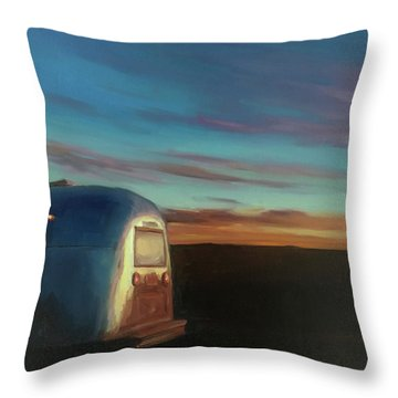 Sunrise Near Amarillo Throw Pillow