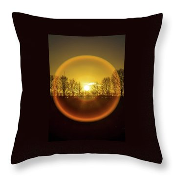 Sunrise. New Years Eve. Throw Pillow