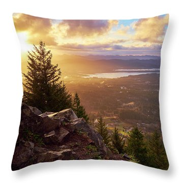 Throw Pillow featuring the photograph Sunrise On Neahkahnie by Whitney Goodey