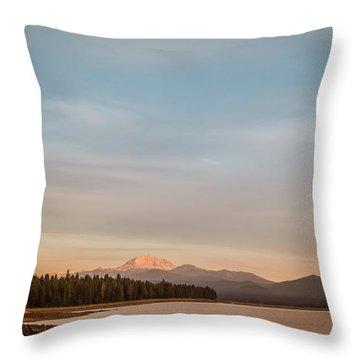 Sunrise On Westshore Lassen Peak Throw Pillow