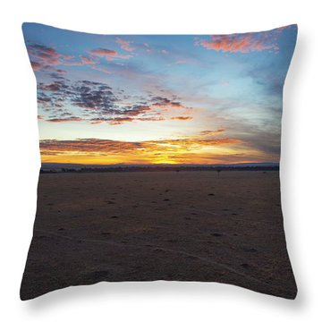Sunrise Over The Mara Throw Pillow