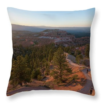 Sunrise Over Bryce Canyon Throw Pillow