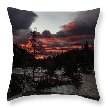 Sunrise Over Cascade Ponds, Banff National Park, Alberta, Canada Throw Pillow