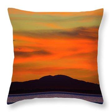 Sunrise Over Santa Monica Bay Throw Pillow