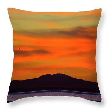 Sunrise Over Santa Monica Bay Throw Pillow