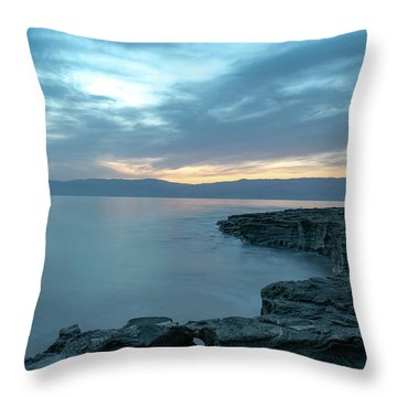 Before Dawn At The Dead Sea Throw Pillow