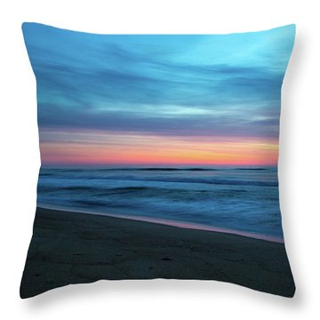 Throw Pillow featuring the photograph Sunrise Over The Outer Banks by Lora J Wilson