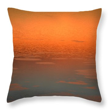 Throw Pillow featuring the photograph Sunrise Reflections by SimplyCMB