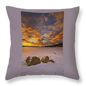 Sunrise Rocks Throw Pillow
