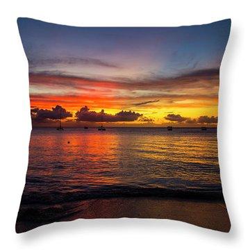 Sunset 4 No Filter Throw Pillow