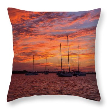 Throw Pillow featuring the photograph Sunset Across The Keys by Mark Duehmig