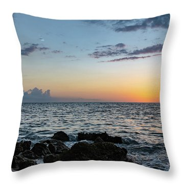 Sunset Afterglow In Negril Jamaica Throw Pillow