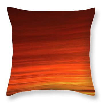 Sunset And Electricity Throw Pillow