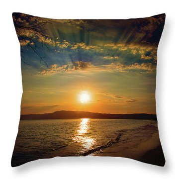 Throw Pillow featuring the photograph Sunset Artistry by Milena Ilieva