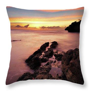Sunset At Columbus Bay Throw Pillow