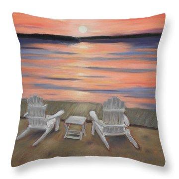 Sunset At Mairs Throw Pillow