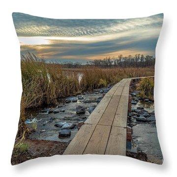 Sunset At Purgatory Creek Throw Pillow