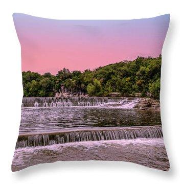 Sunset At The Falls Throw Pillow