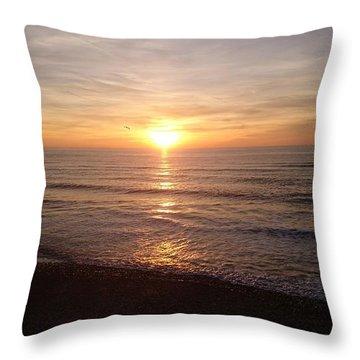 Sunset Blackpool Throw Pillow