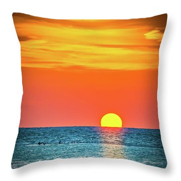 Sunset Captiva  Throw Pillow