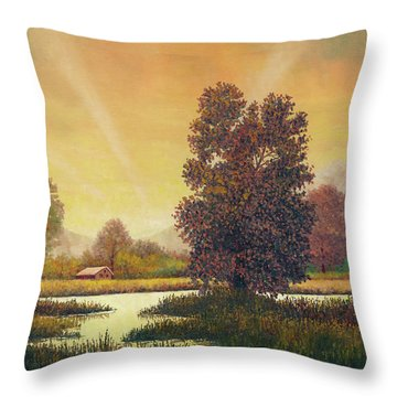 Sunset Color Throw Pillow